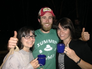 Me, Weston and Renee - with our blue cups.