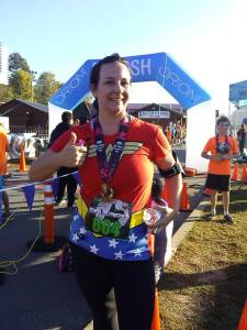 Me at the finish line of my first race!